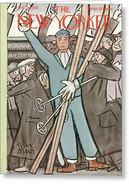 New Yorker February 5th, 1938 Greeting Card