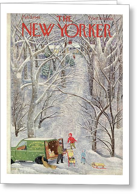 New Yorker February 5th, 1949 Greeting Card