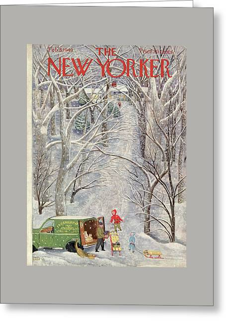 New Yorker February 5th, 1949 Greeting Card by Ilonka Karasz