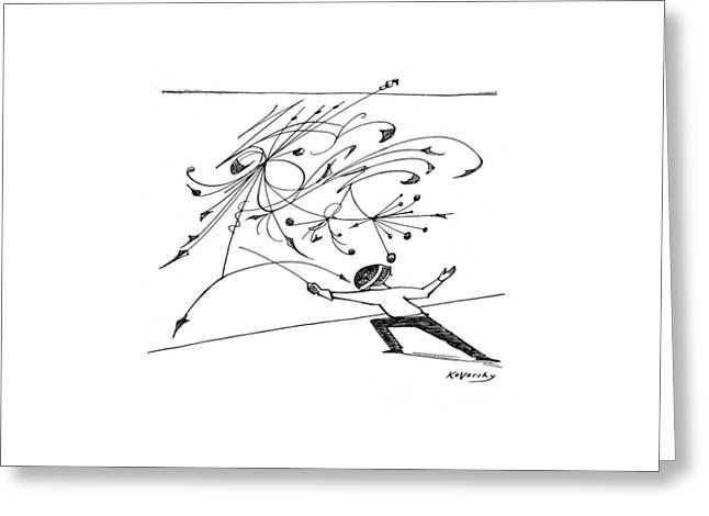 New Yorker February 5th, 1955 Greeting Card by Anatol Kovarsky