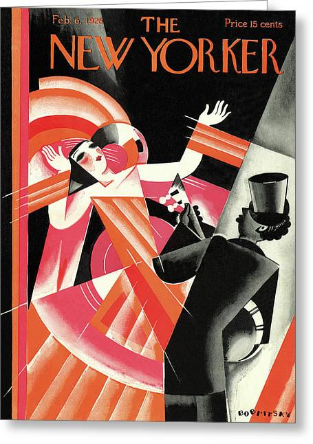 New Yorker February 6th, 1926 Greeting Card by Victor Bobritsky