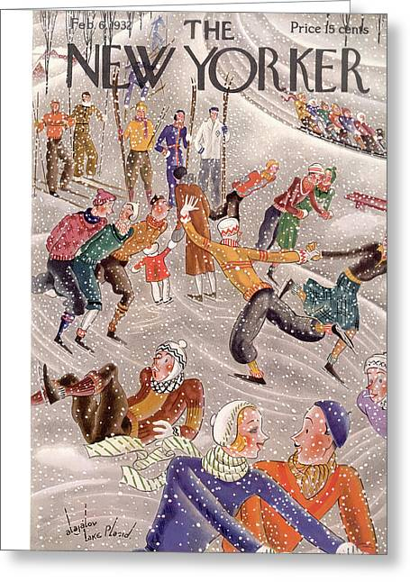 New Yorker February 6th, 1932 Greeting Card