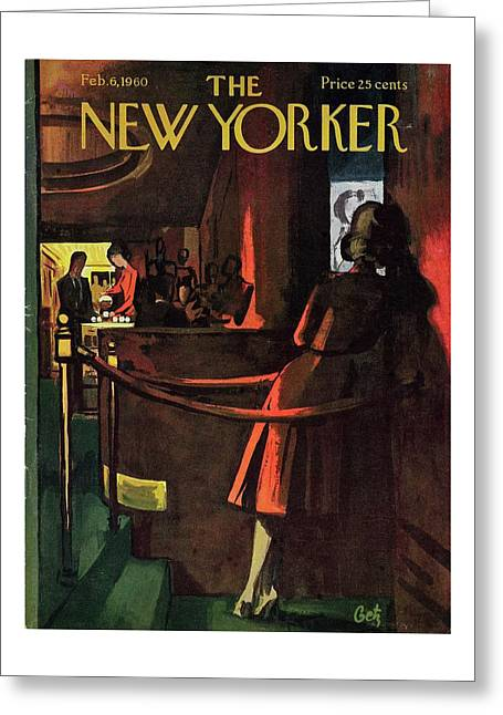 New Yorker February 6th 1960 Greeting Card