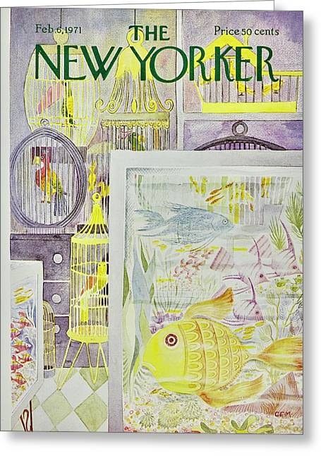 New Yorker February 6th 1971 Greeting Card