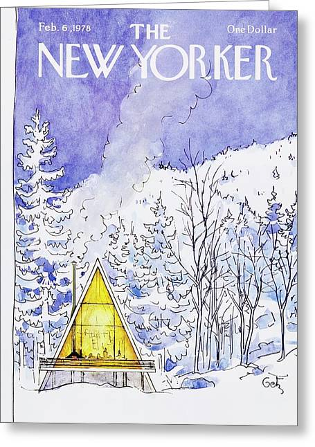 New Yorker February 6th 1978 Greeting Card