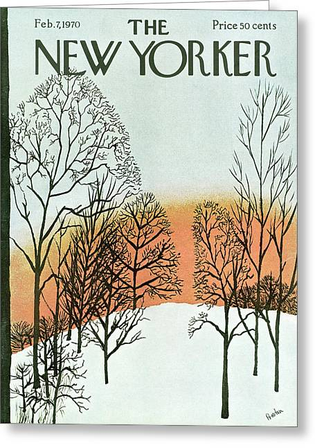 New Yorker February 7th, 1970 Greeting Card