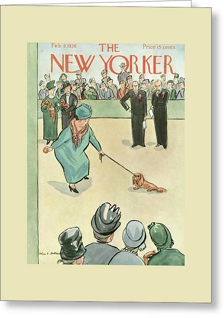 New Yorker February 8th, 1936 Greeting Card by Helen E. Hokinson
