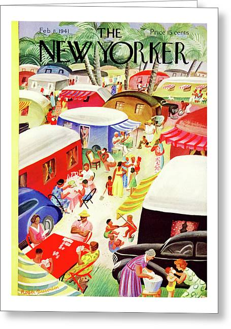 New Yorker February 8th, 1941 Greeting Card