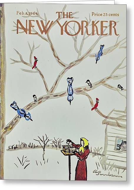 New Yorker February 8th 1964 Greeting Card