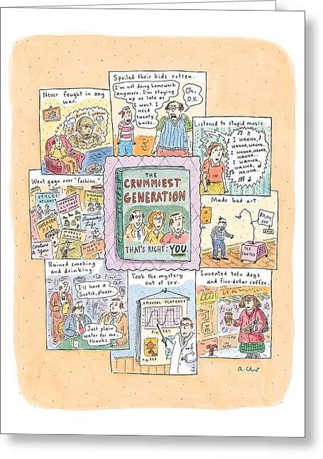 New Yorker February 8th, 1999 Greeting Card by Roz Chast