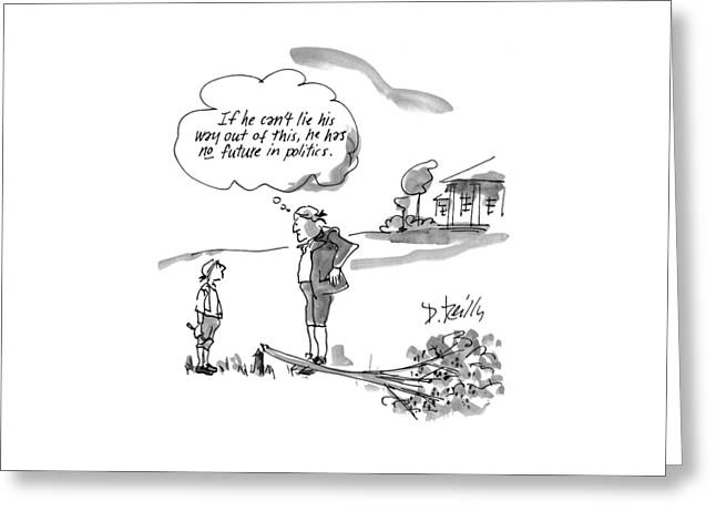 New Yorker February 9th, 1998 Greeting Card