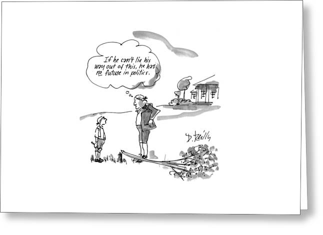 New Yorker February 9th, 1998 Greeting Card by Donald Reilly