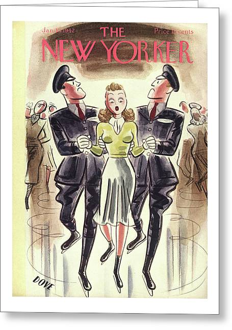 New Yorker January 10th, 1942 Greeting Card
