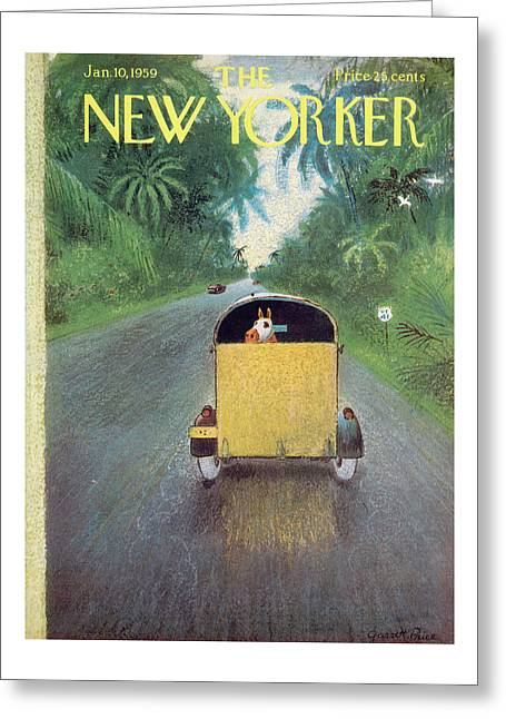 New Yorker January 10th, 1959 Greeting Card