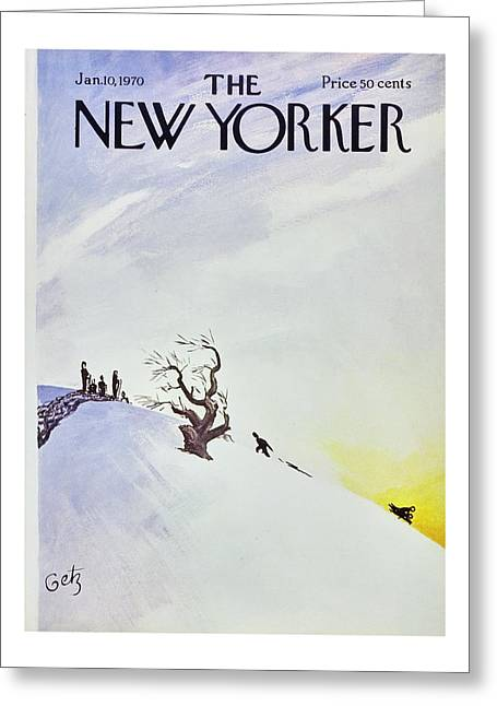New Yorker January 10th 1970 Greeting Card