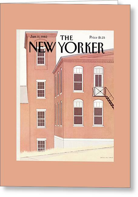 New Yorker January 11th, 1982 Greeting Card by Gretchen Dow Simpson