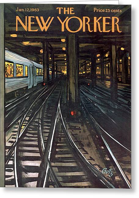 New Yorker January 12th, 1963 Greeting Card by Arthur Getz