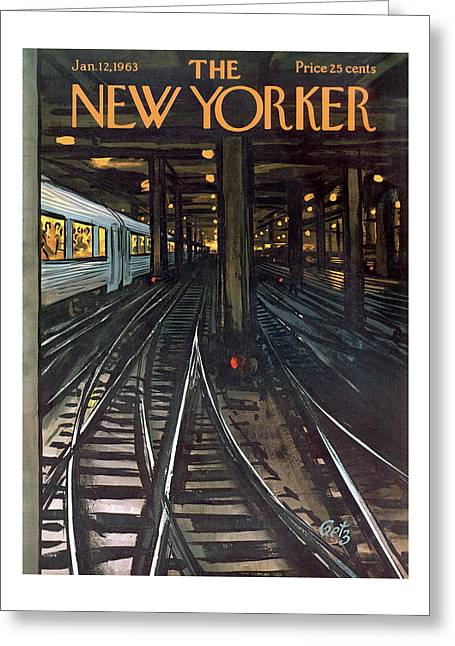 New Yorker January 12th, 1963 Greeting Card