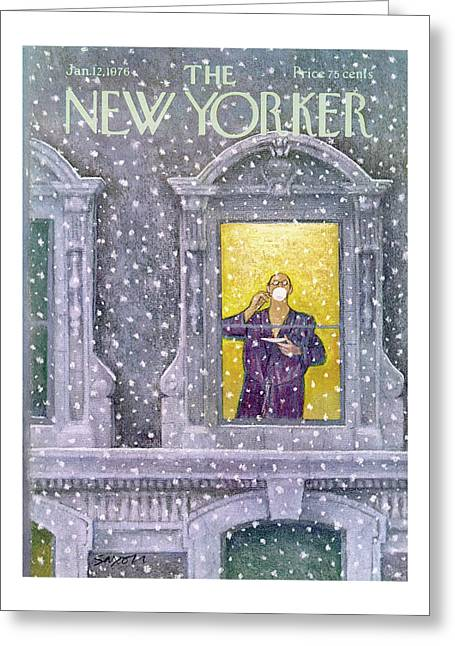 New Yorker January 12th, 1976 Greeting Card