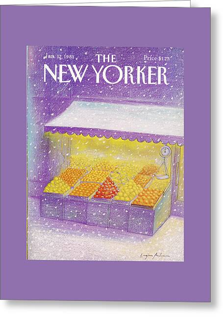 New Yorker January 12th, 1981 Greeting Card by Eugene Mihaesco