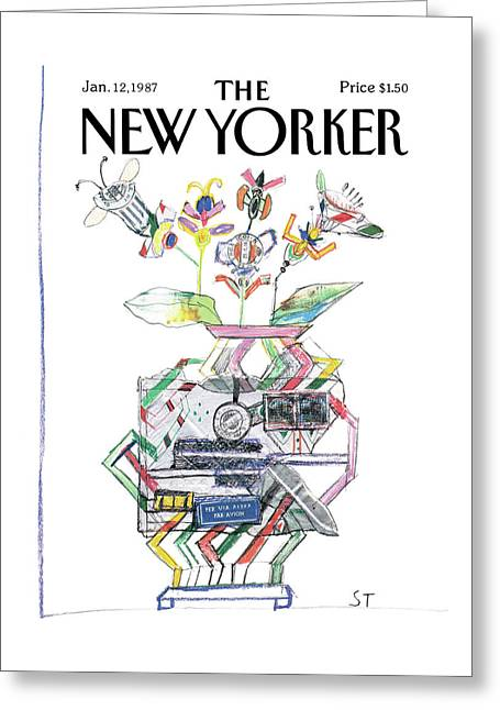 New Yorker January 12th, 1987 Greeting Card