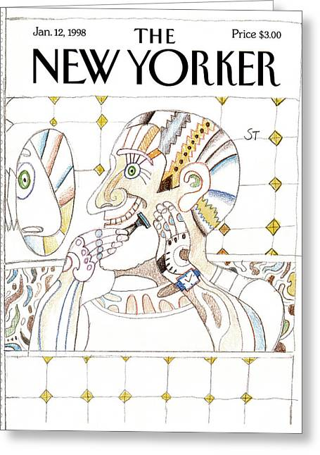 New Yorker January 12th, 1998 Greeting Card by Saul Steinber
