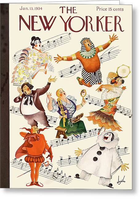New Yorker January 13th, 1934 Greeting Card