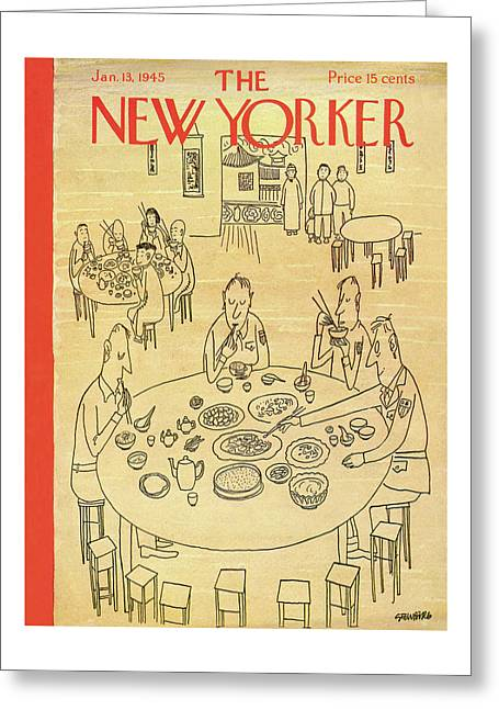 New Yorker January 13, 1945 Greeting Card