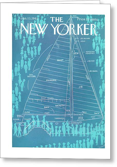 New Yorker January 13th, 1962 Greeting Card