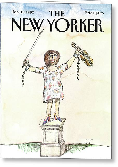 New Yorker January 13th, 1992 Greeting Card