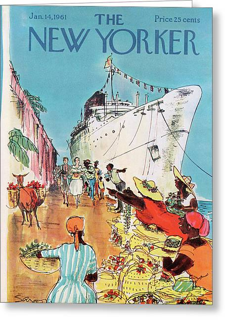 New Yorker January 14th, 1961 Greeting Card