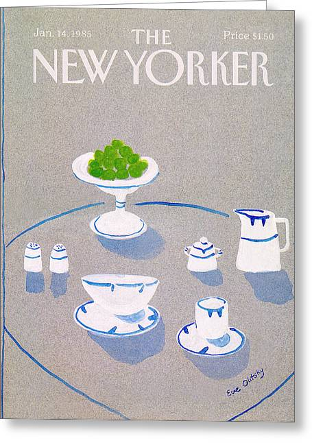 New Yorker January 14th, 1985 Greeting Card by Eve Olitsky