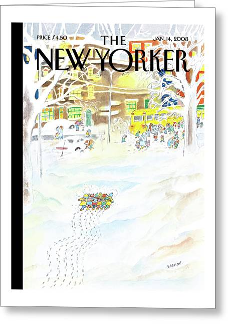 New Yorker January 14th, 2008 Greeting Card