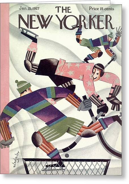 New Yorker January 15th, 1927 Greeting Card by Constantin Alajalov