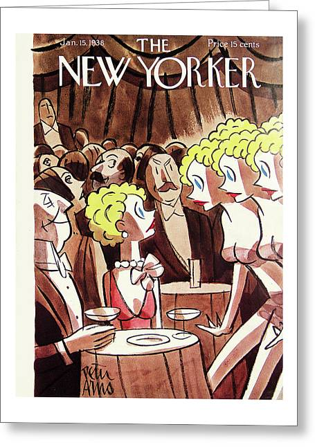 New Yorker January 15th, 1938 Greeting Card