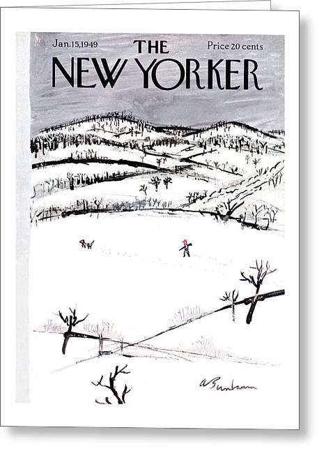 New Yorker January 15th, 1949 Greeting Card
