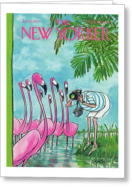 New Yorker January 15th, 1972 Greeting Card
