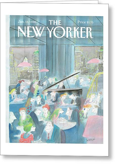 New Yorker January 15th, 1990 Greeting Card