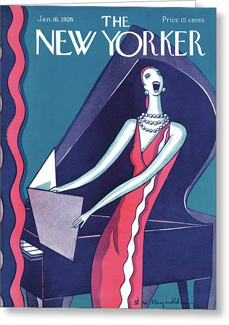 New Yorker January 16th, 1926 Greeting Card