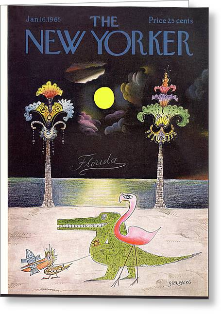 New Yorker January 16th, 1965 Greeting Card by Saul Steinberg