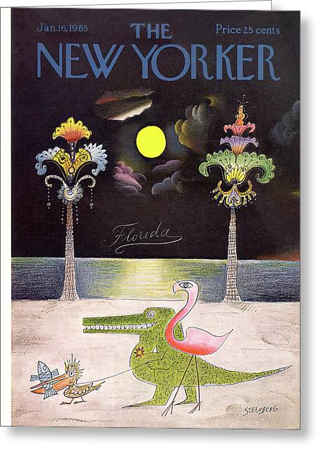 New Yorker January 16th, 1965 Greeting Card