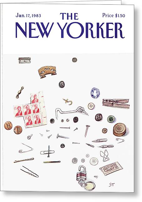New Yorker January 17th, 1983 Greeting Card