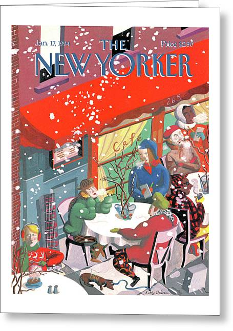 New Yorker January 17th, 1994 Greeting Card