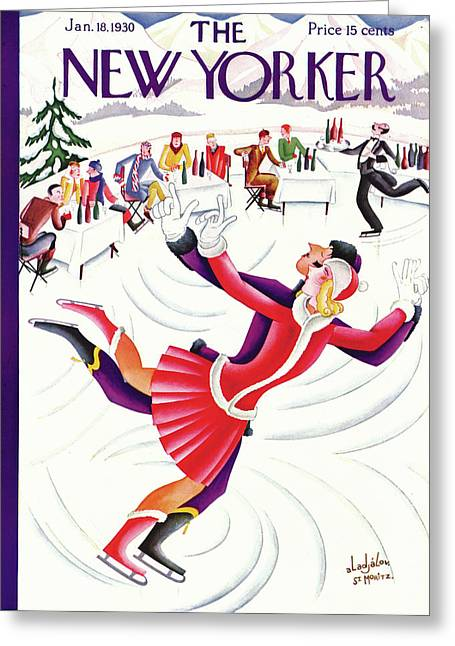 New Yorker January 18th, 1930 Greeting Card by Constantin Alajalov