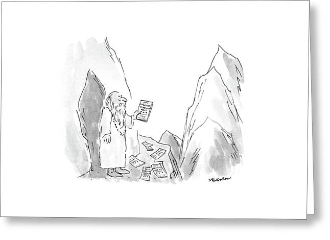 New Yorker January 18th, 1988 Greeting Card by James Stevenson