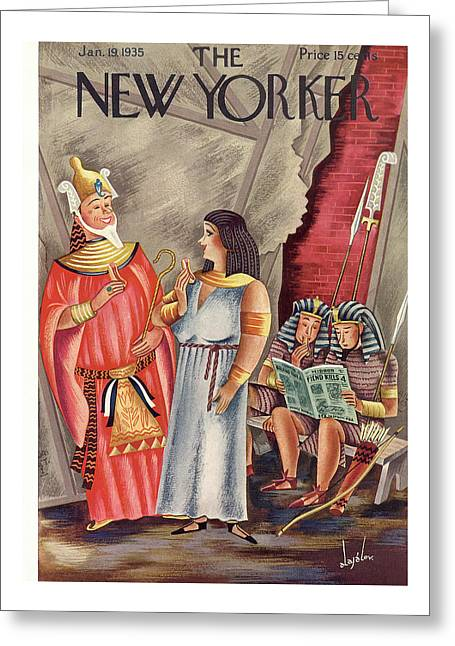 New Yorker January 19th, 1935 Greeting Card