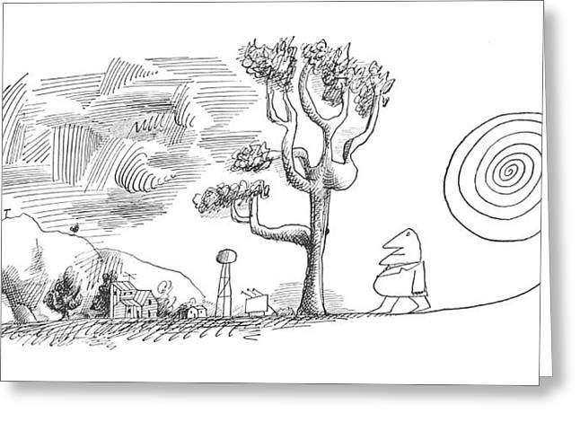 New Yorker January 19th, 1963 Greeting Card by Saul Steinberg