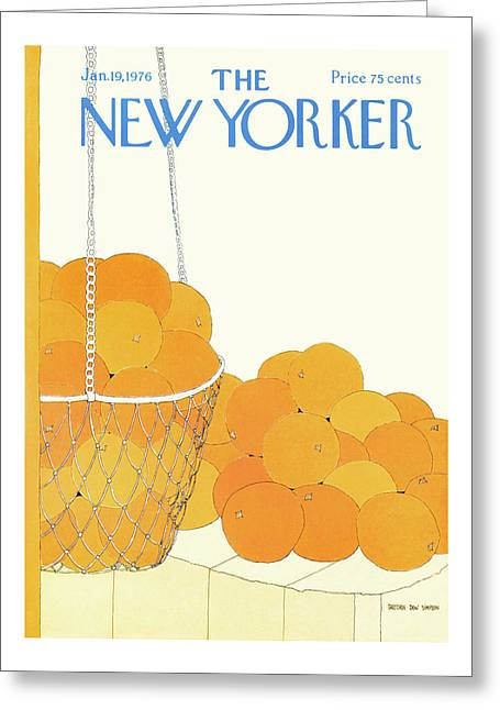 New Yorker January 19th, 1976 Greeting Card