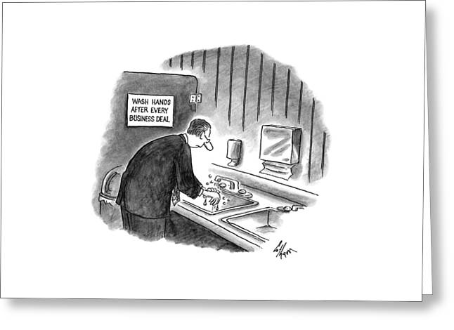 New Yorker January 19th, 1998 Greeting Card by Frank Cotham