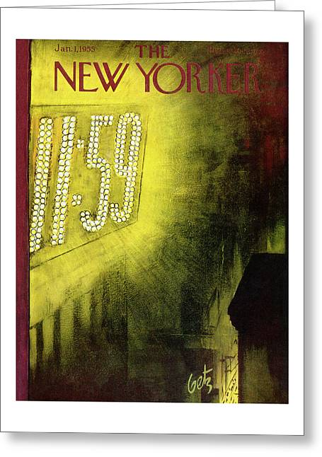 New Yorker January 1st, 1955 Greeting Card